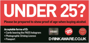 Under 25? Be prepared to show proof of age on delivery.